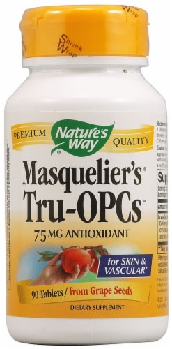 Nature's Way  Masquelier's® Tru-OPCs™ 75 mg Tablets Perspective: front
