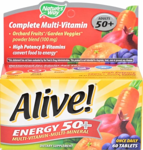 Nature's Way Alive! Energy 50+ without Iron Perspective: front