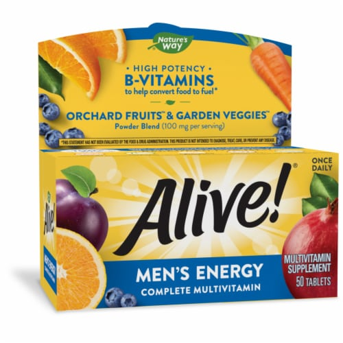 Nature's Way Alive! Men's Energy Tablets Perspective: front