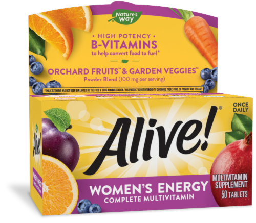 Nature's Way Alive! Women's Energy Tablets Perspective: front