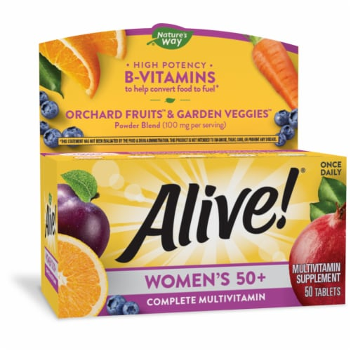 Nature's Way Alive! Women's 50+ Tablets Perspective: front