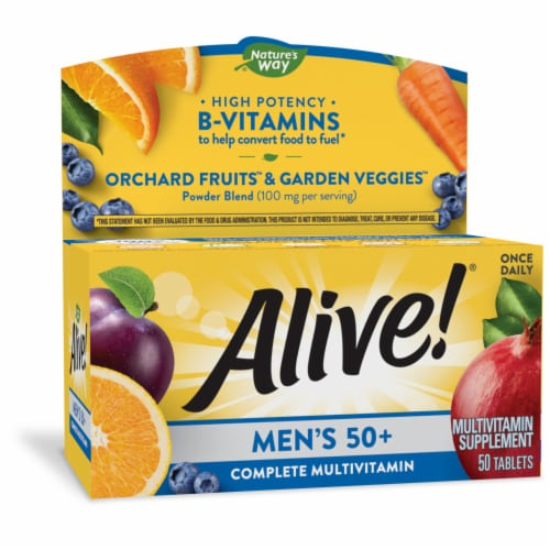 Nature's Way Alive! Men's 50+ Tablets Perspective: front