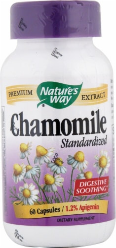 Nature's Way Chamomile Standardized Capsules Perspective: front