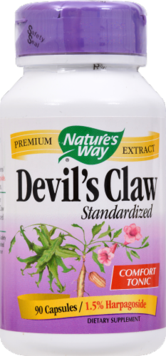Nature's Way Devil's Claw Comfort Tonic Vegetarian Capsules Perspective: front