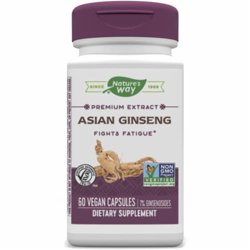 Nature's Way Korean Ginseng Standardized Tablets Perspective: front