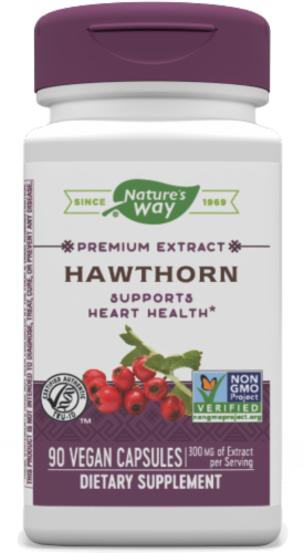 Nature's Way Hawthorn Standardized Capsules Perspective: front