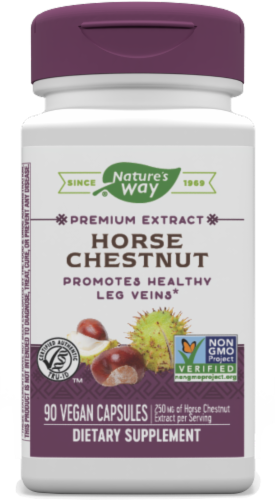 Nature's Way Horse Chestnut Standardized Capsules Perspective: front