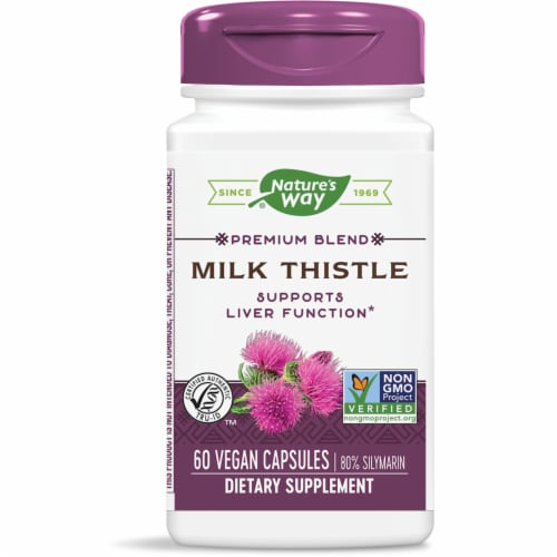 Nature's Way Milk Thistle Vegan Capsules Perspective: front