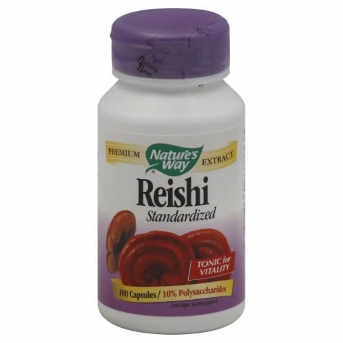 Nature's Way Reishi Capsules Perspective: front