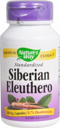 Nature's Way Siberian Eleuthero Standardized Capsules Perspective: front