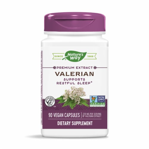 Nature's Way Valerian Capsules 220 mg Perspective: front