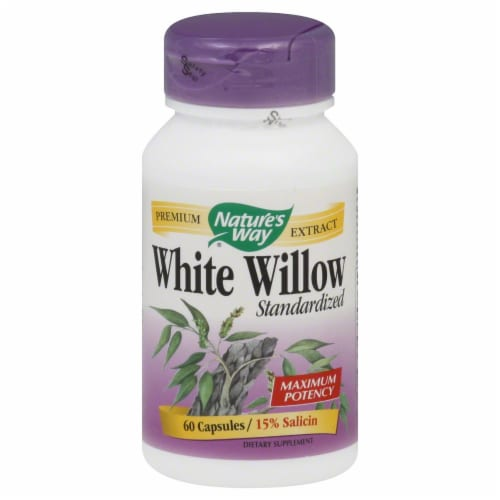 Nature's Way White Willow Bark Capsules Perspective: front