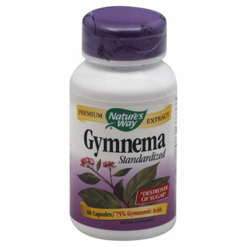 Nature's Way Gymnema Capsules Perspective: front