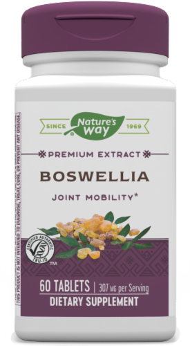 Nature's Way Boswellia Tablets 307mg Perspective: front