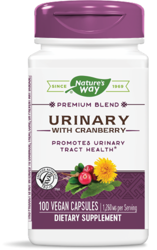 Nature's Way Urinary with Cranberry Capsules 420mg Perspective: front