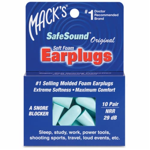 Macks 360000 Ear Care Safesound Earplugs - 10 Pair Perspective: front
