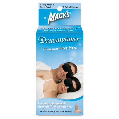 Mack's Dreamweaver Contoured Sleep Mask with Soft Foam Earplugs Perspective: front