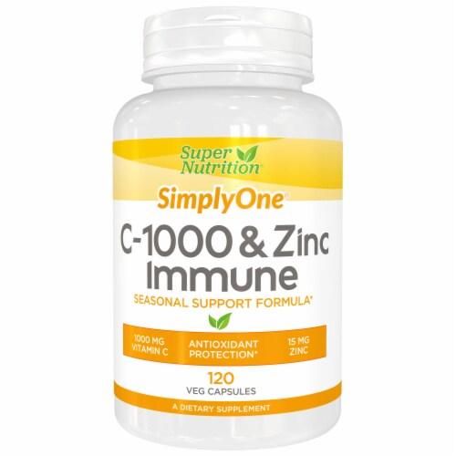 NOW Foods C-1000 & Zinc Immune Vegetarian Capsules Perspective: front
