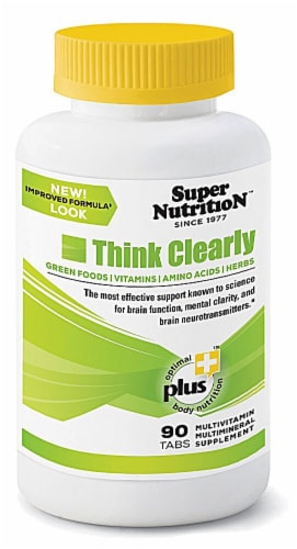 Super Nutrition  Think Clearly Perspective: front
