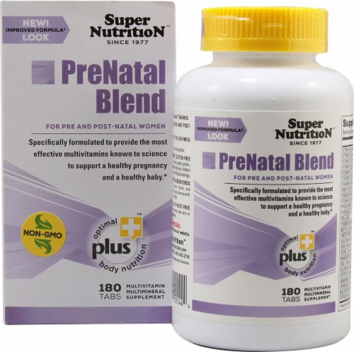 Super Nutrition  PreNatal Blend Perspective: front