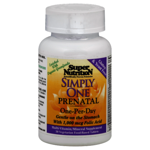 Super Nutrition Simply One Prenatal Perspective: front