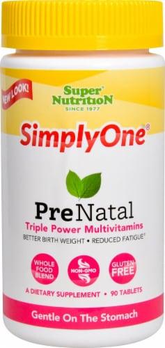 Super Nutrition  SimplyOne Prenatal Triple Power Multivitamins Perspective: front