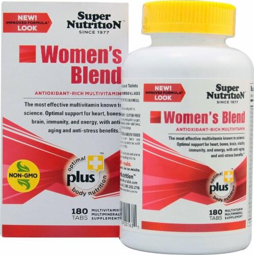 Super Nutrition  Women's Blend Antioxidant Rich Multi-Vitamin Perspective: front