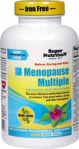 Super Nutrition  Menopause Multiple Multivitamin Multimineral Supplement Perspective: front