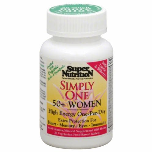 Super Nutrition Simply One Women's Plus50 Triple Power Perspective: front