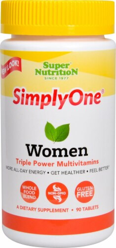 Super Nutrition  Simply One Women Triple Power Vitamins with Iron Perspective: front