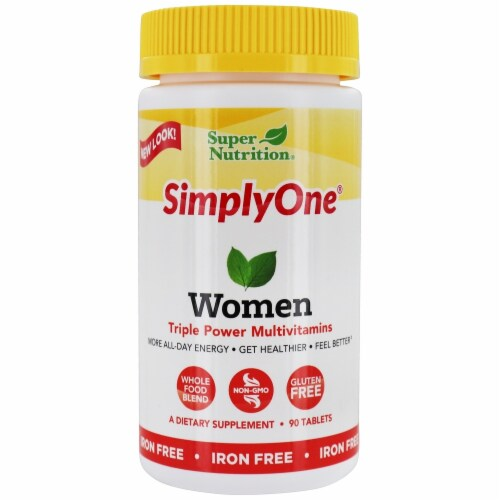 Super Nutrition Simply One Women Triple Power Multivitamin Tablets Perspective: front