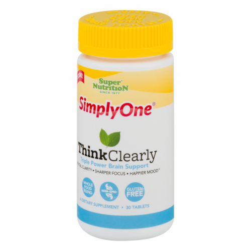 Super Nutrition Simply One Think Clearly Perspective: front