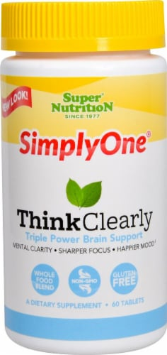 Super Nutrition  Simply One® Think Clearly Perspective: front