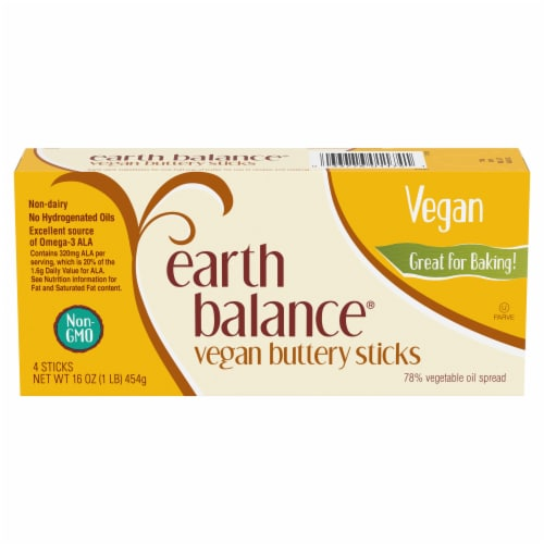 Earth Balance Vegan Buttery Sticks Perspective: front