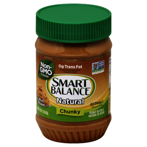Smart Balance Chunky Peanut Butter & Flaxseed Oil Spread Perspective: front