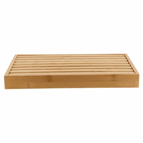 Danesco Bamboo Bread Cutting Board with Crumb Catcher Perspective: front