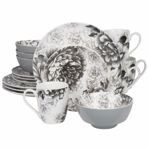 BIA Cordon Bleu Peony Dinnerware Set - Gray Perspective: front