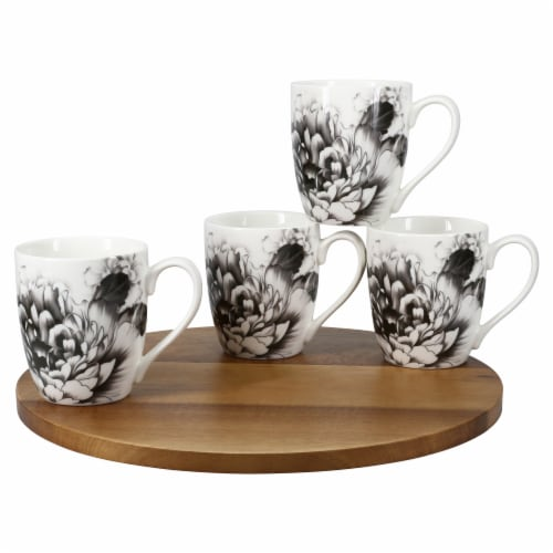 BIA Cordon Bleu Peony Mug Set - Gray Perspective: front