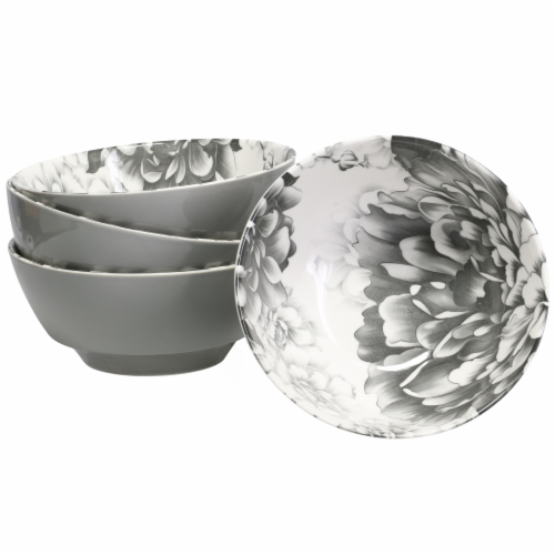 BIA Cordon Bleu Peony Bowl - Gray Perspective: front