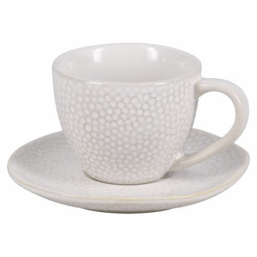 BIA Cordon Bleu Serene Demitasse Cup and Saucer Set - Crème Perspective: front
