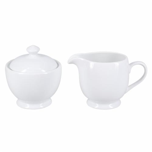 BIA Cordon Bleu Bistro Covered Sugar Bowl and Creamer Set - Porcelain Perspective: front
