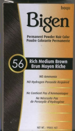 Bigen Rich Medium Brown 56 Hair Color Perspective: front