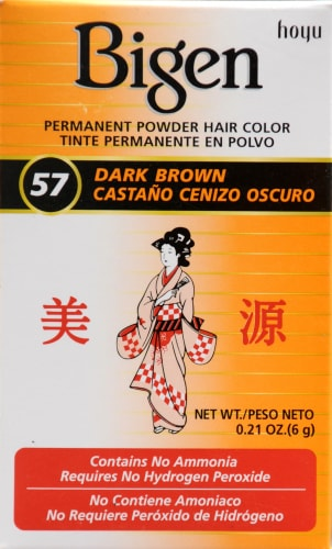 Bigen 57 Dark Brown Powder Hair Color Perspective: front
