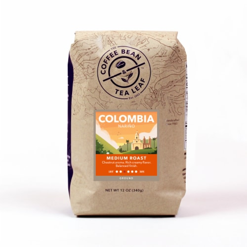 The Coffee Bean & Tea Leaf Colombia Narino Medium Roast Ground Coffee Perspective: front