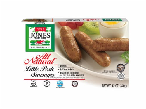 Jones Dairy Farm All Natural Little Pork Sausage Links Perspective: front