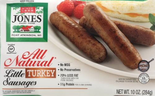 Jones Dairy Farm All Natural Little Turkey Sausages Perspective: front
