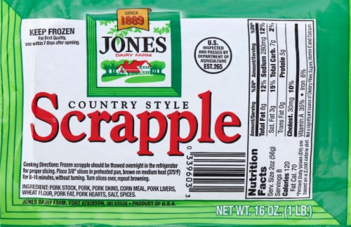 Jones Country Style Scrapple Perspective: front
