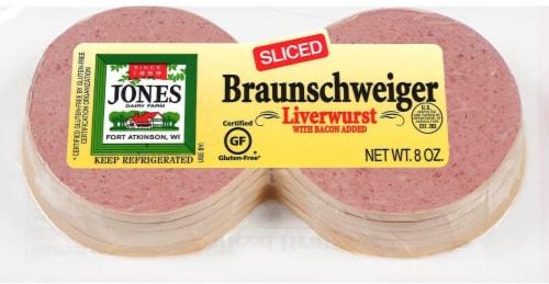 Jones Dairy Farm Braunschweiger Sliced Liverwurst Perspective: front