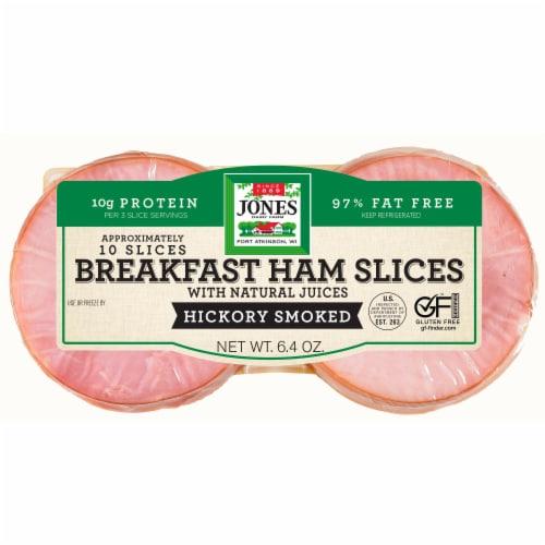 Jones Dairy Farm Hickory Smoked Ham Slices Perspective: front