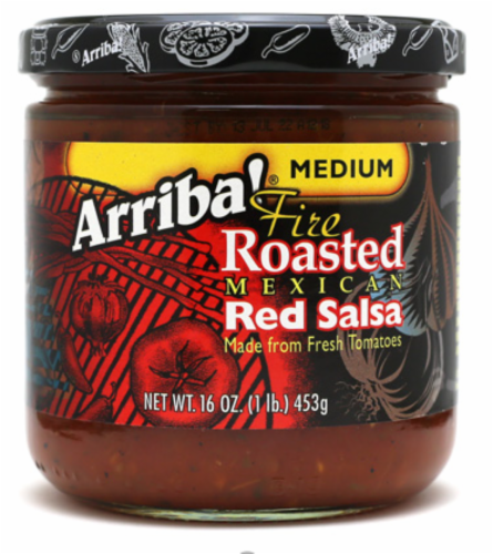 Arriba Medium Fire Roasted Red Salsa Perspective: front